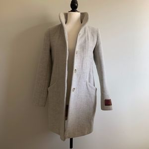Wilfred Cocoon Jacket in Heather White